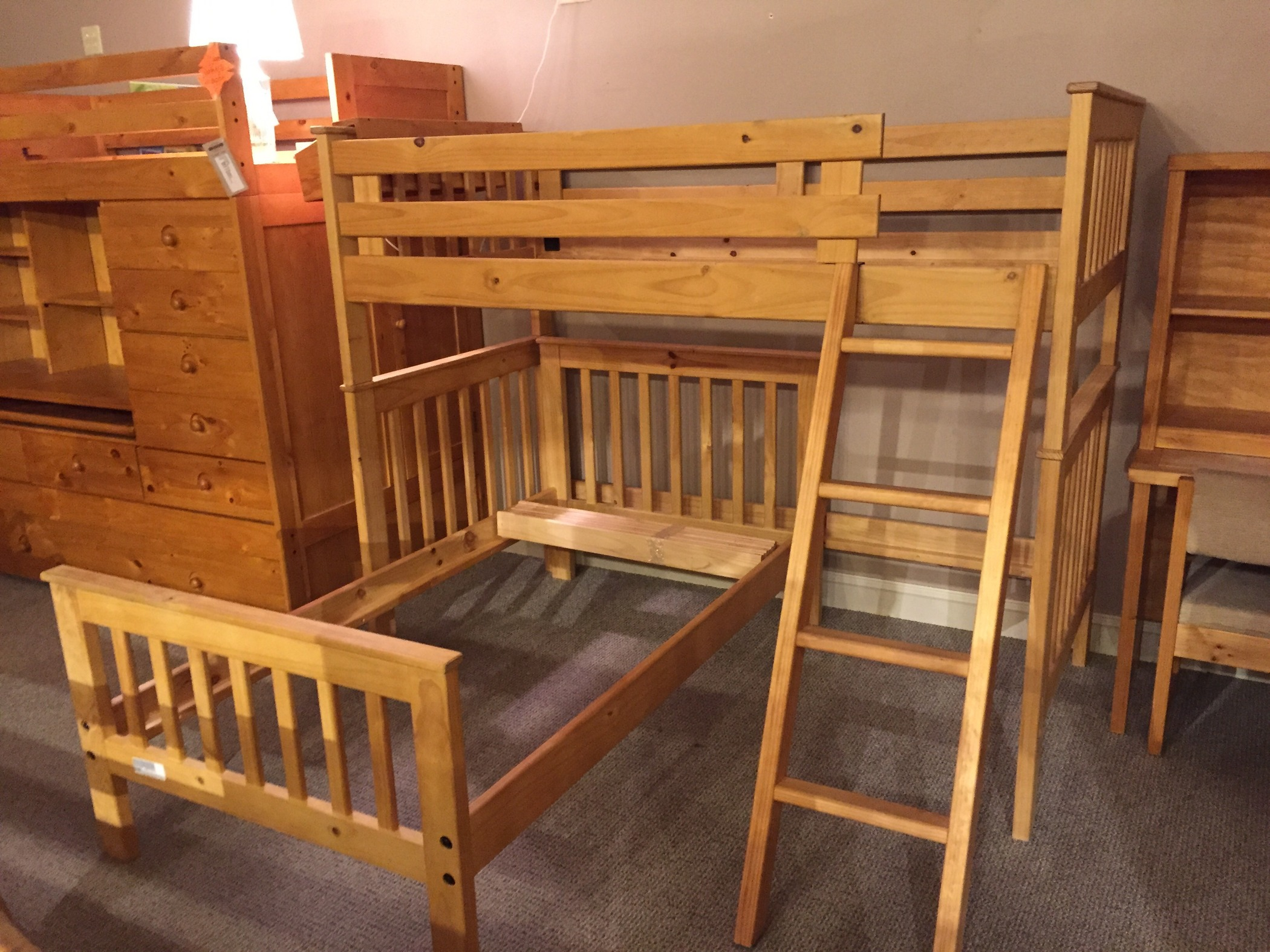 Pine Bunk Bed Allegheny Furniture Consignment