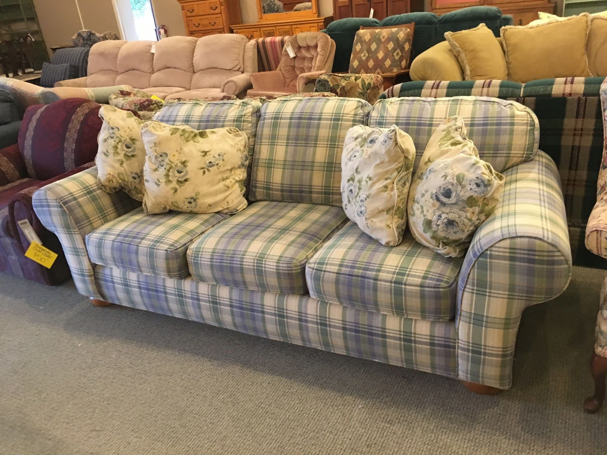 Broyhill Plaid Sofa Allegheny Furniture Consignment