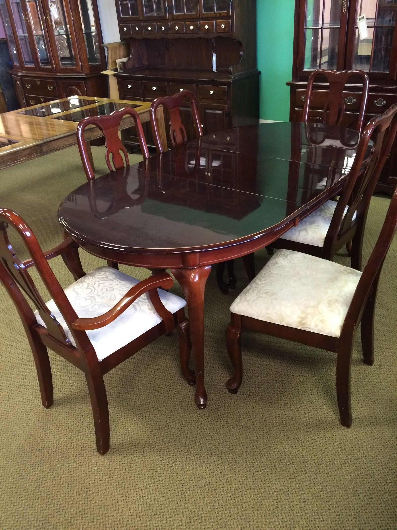 Formal cherry dining room set allegheny furniture for Cherry dining room set