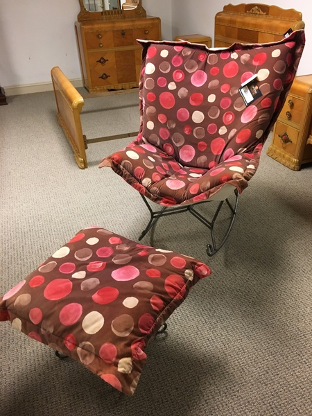 POLKA DOT CHAIR AND OTTOMAN