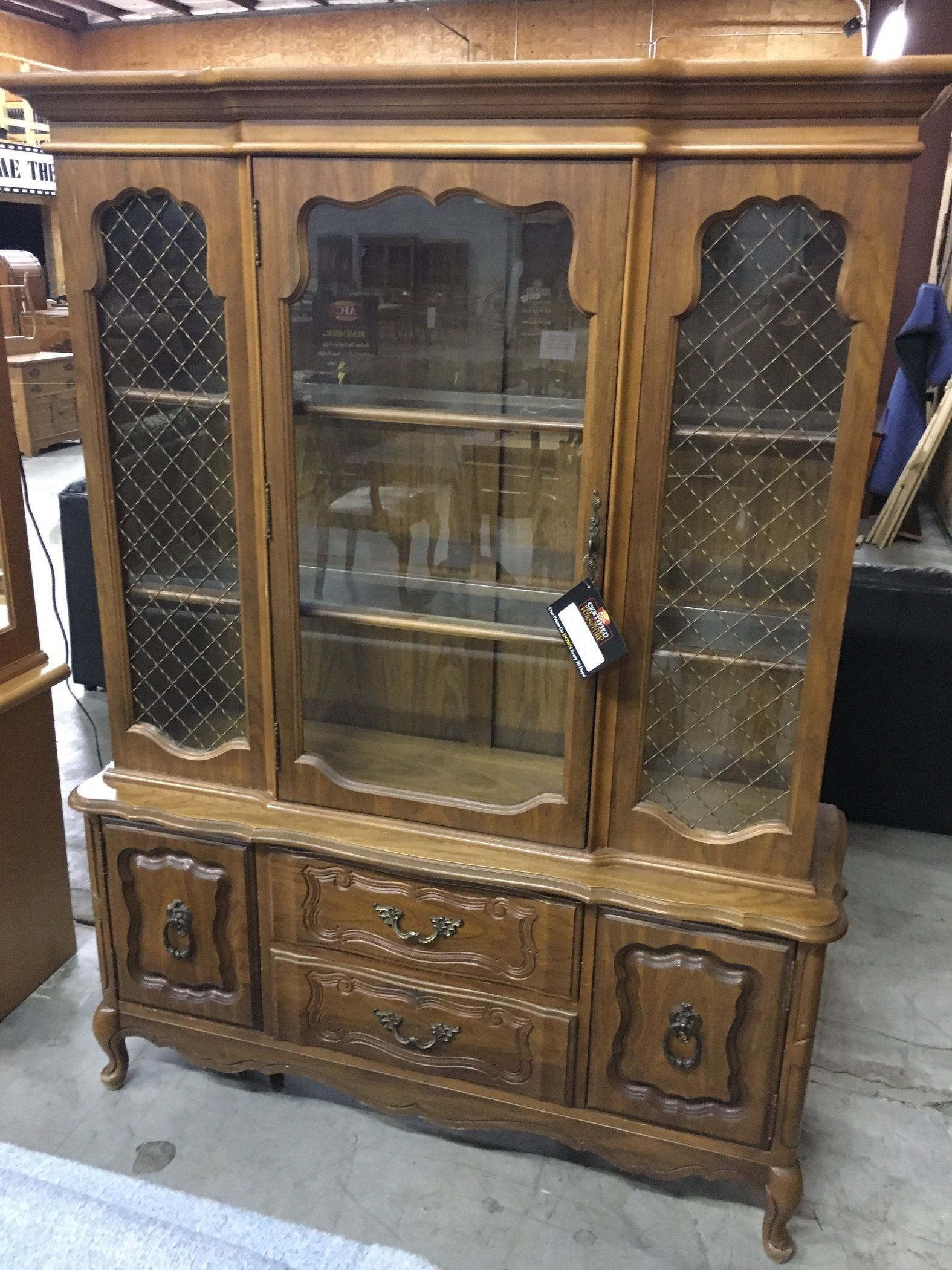 Vintage Bassett China Cabinet Allegheny Furniture Consignment