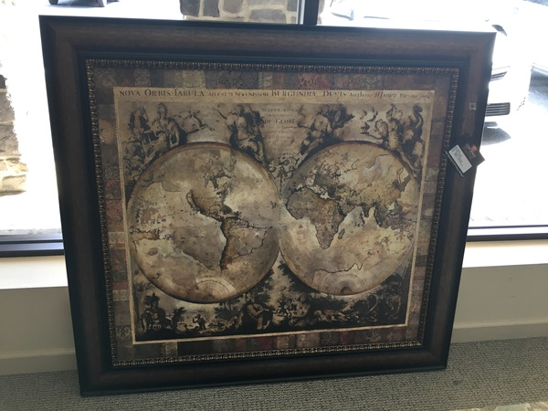 Framed world map allegheny furniture consignment framed world map gumiabroncs Images