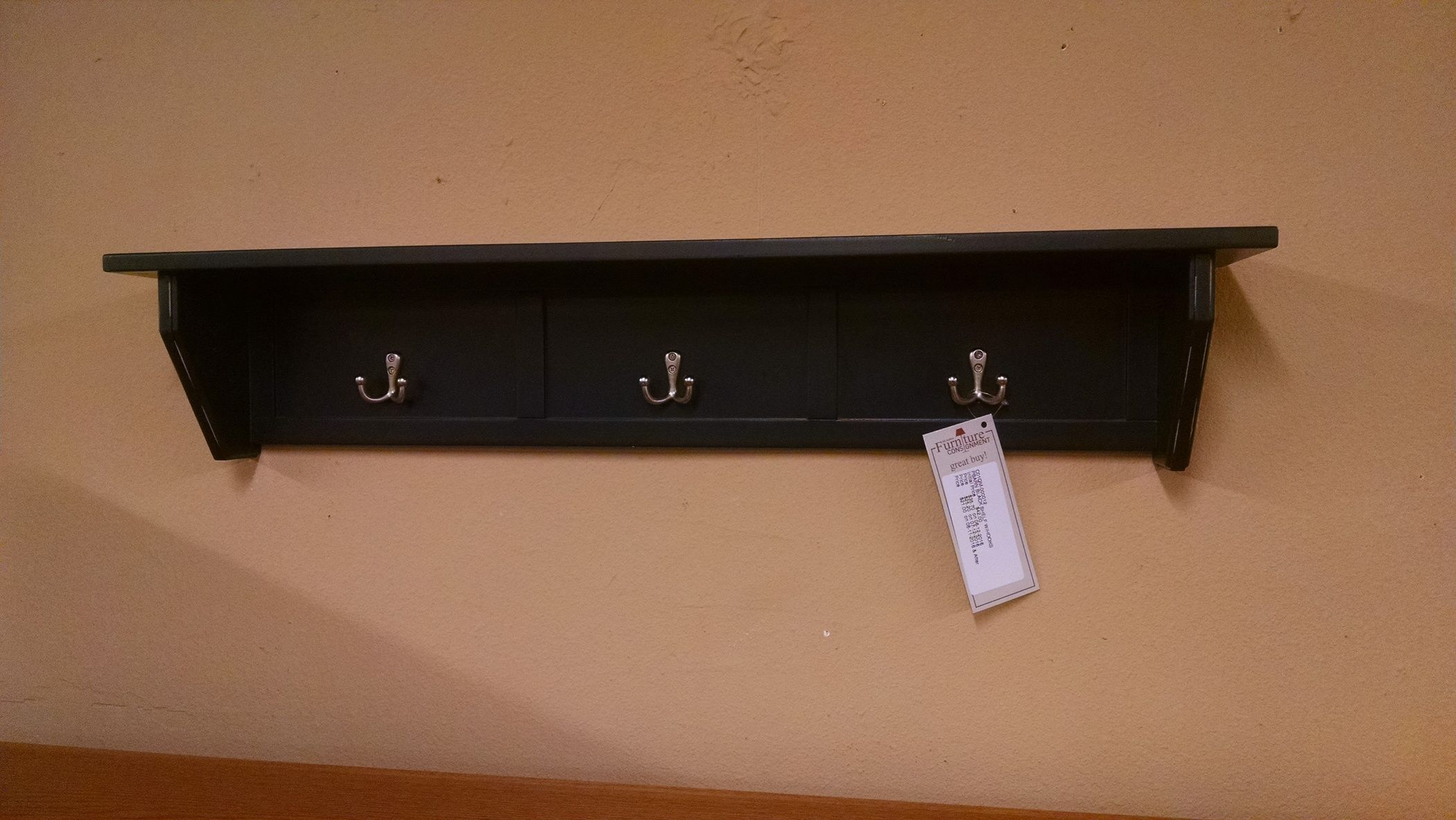 how to build a wine rack in a kitchen cabinet pbarn black shelf w hooks delmarva furniture consignment 16807