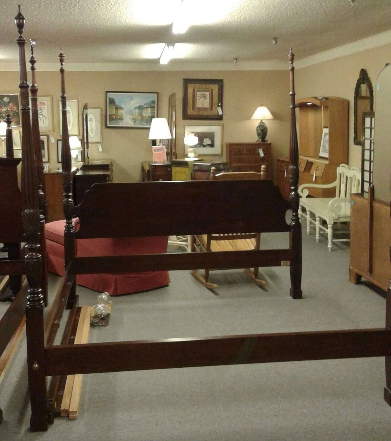 ethan allen king bed delmarva furniture consignment