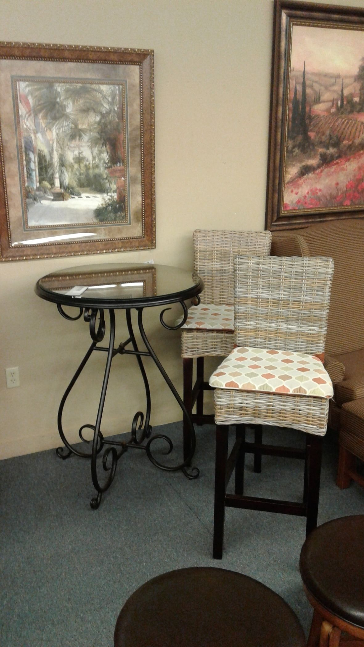 Pier 1 Pub Table And 2 Chairs Delmarva Furniture Consignment
