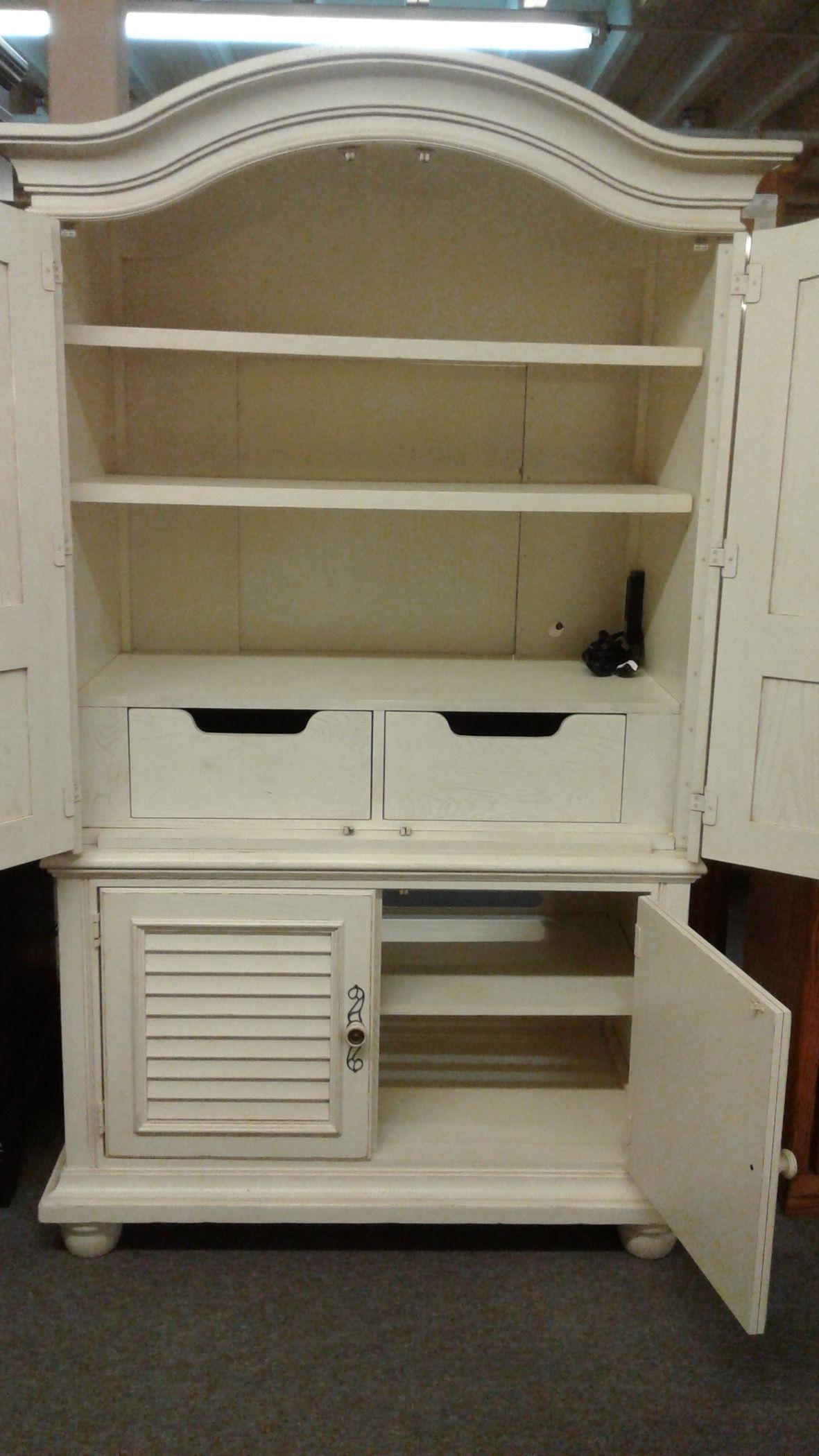 LEXINGTON WHITE ARMOIRE | Delmarva Furniture Consignment