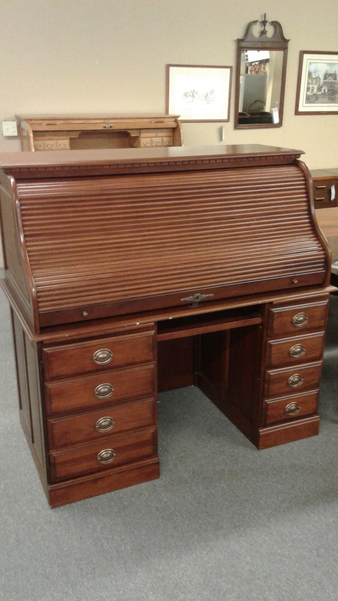 Cherry Roll Top Desk Delmarva Furniture Consignment