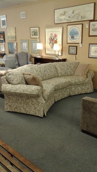 Ethan Allen Blue Floral Sofa Delmarva Furniture Consignment