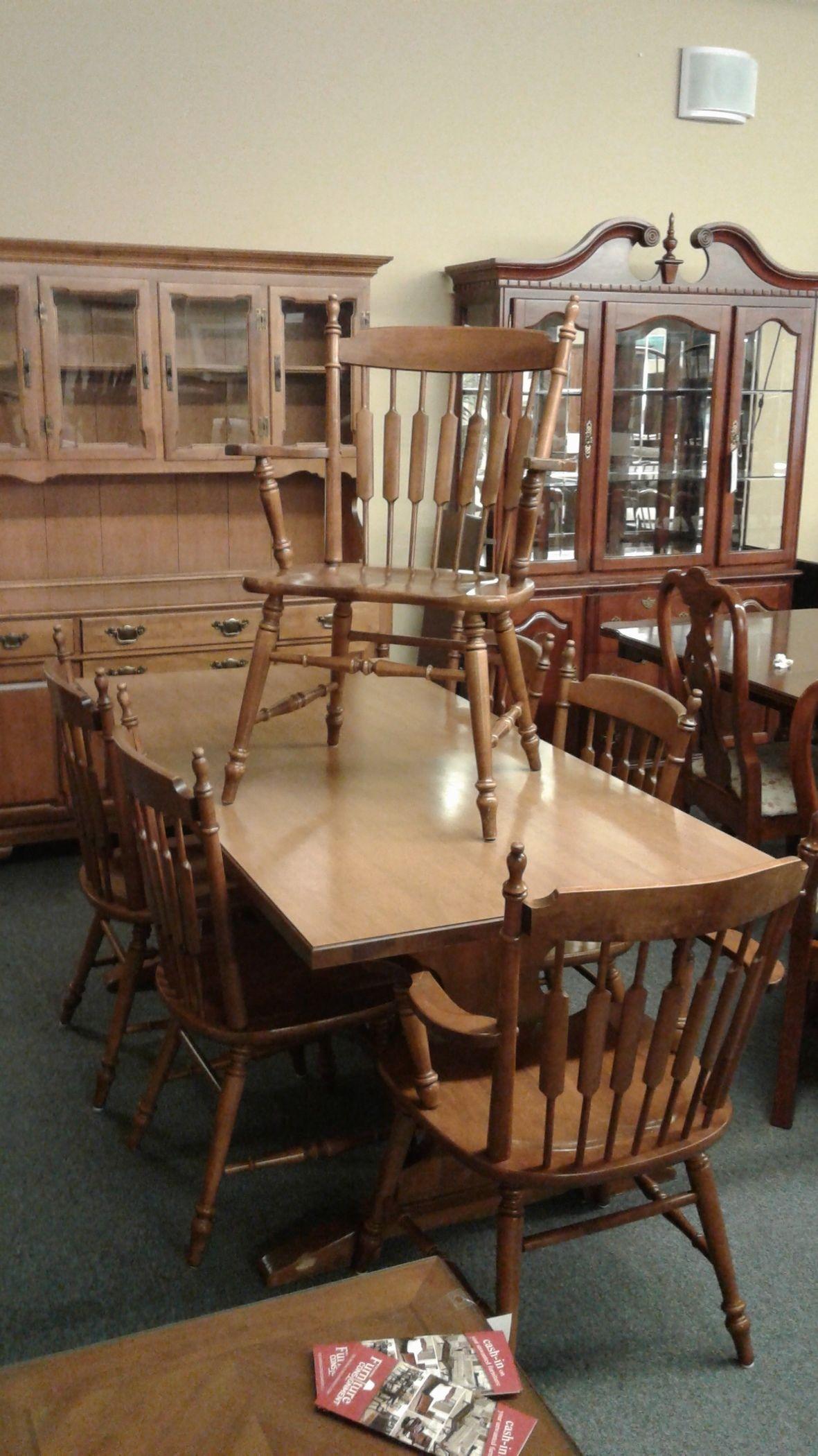 Tell City Maple Dining Set Delmarva Furniture Consignment