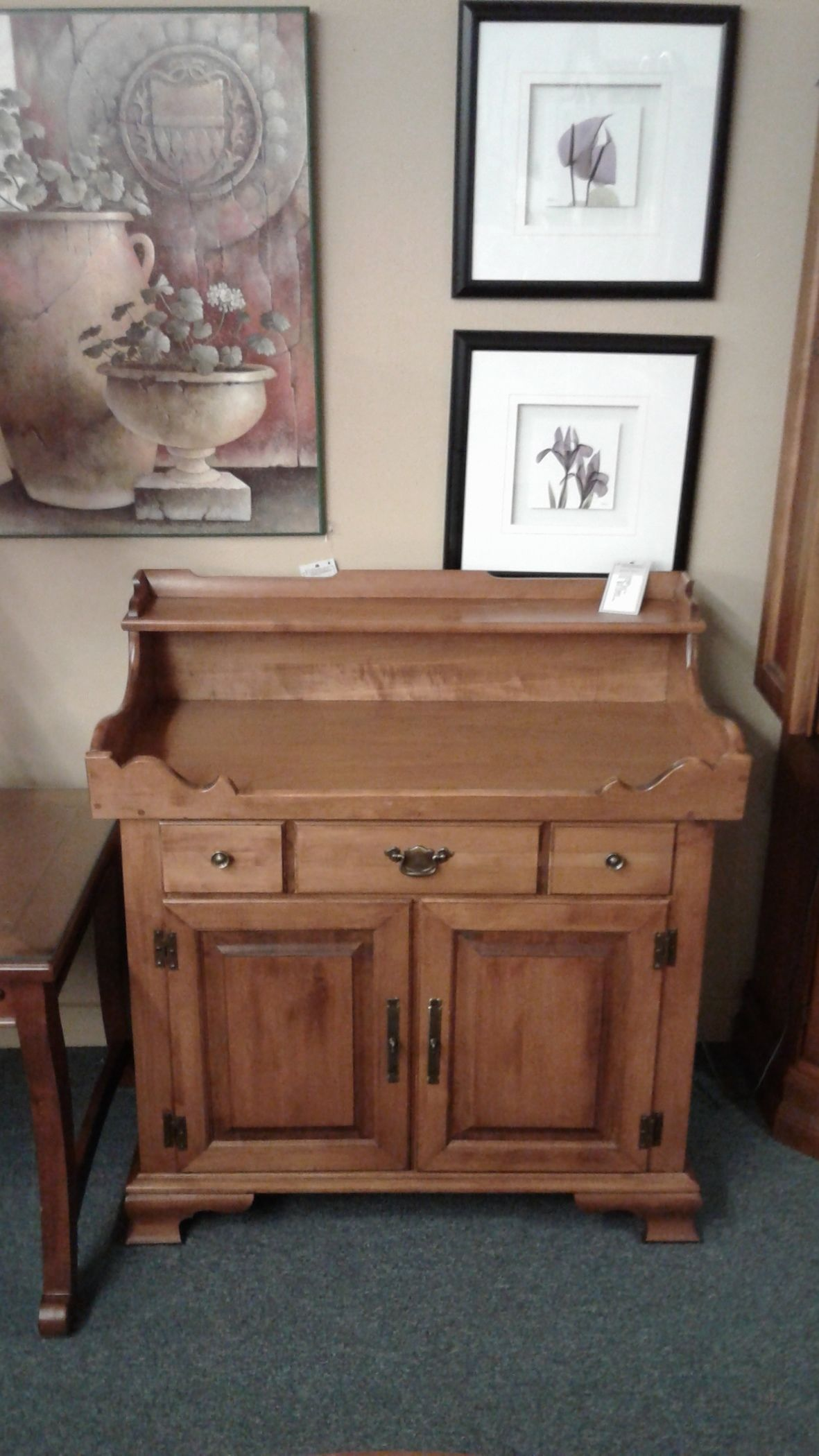 Tell City Maple Dry Sink Delmarva Furniture Consignment