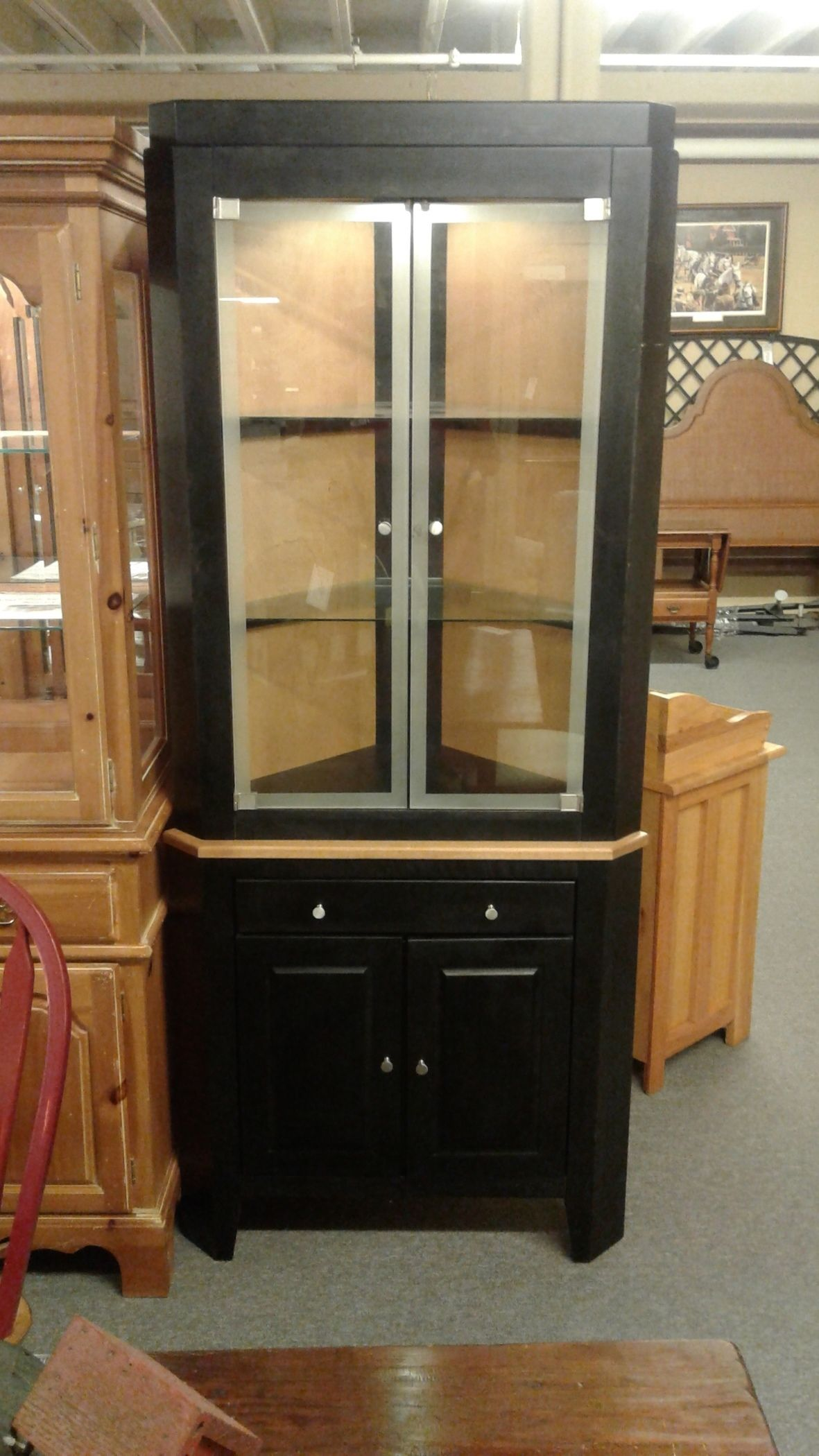 Canadel Corner Cabinet Delmarva Furniture Consignment