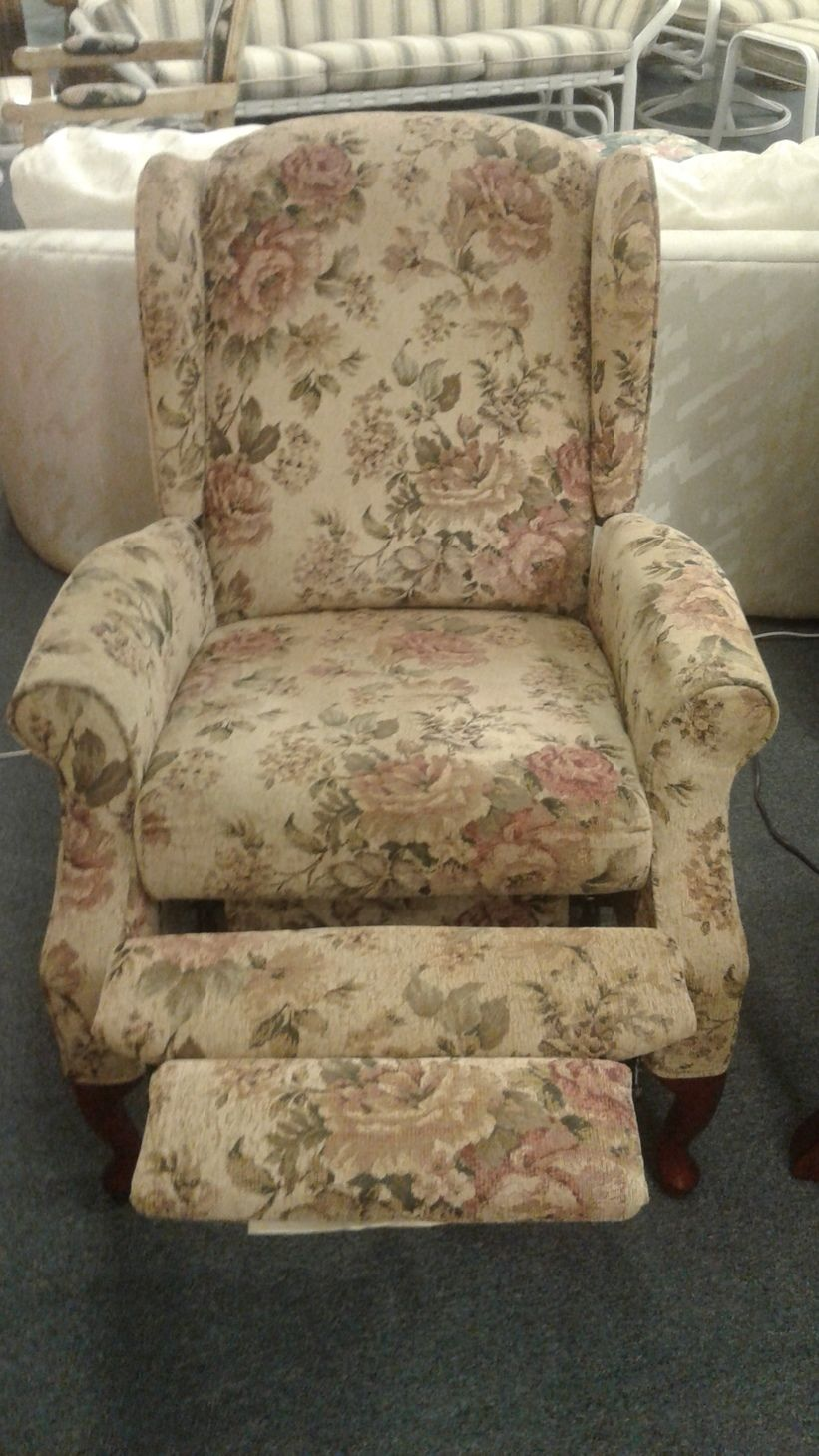 Lane Floral Push Back Recliner Delmarva Furniture