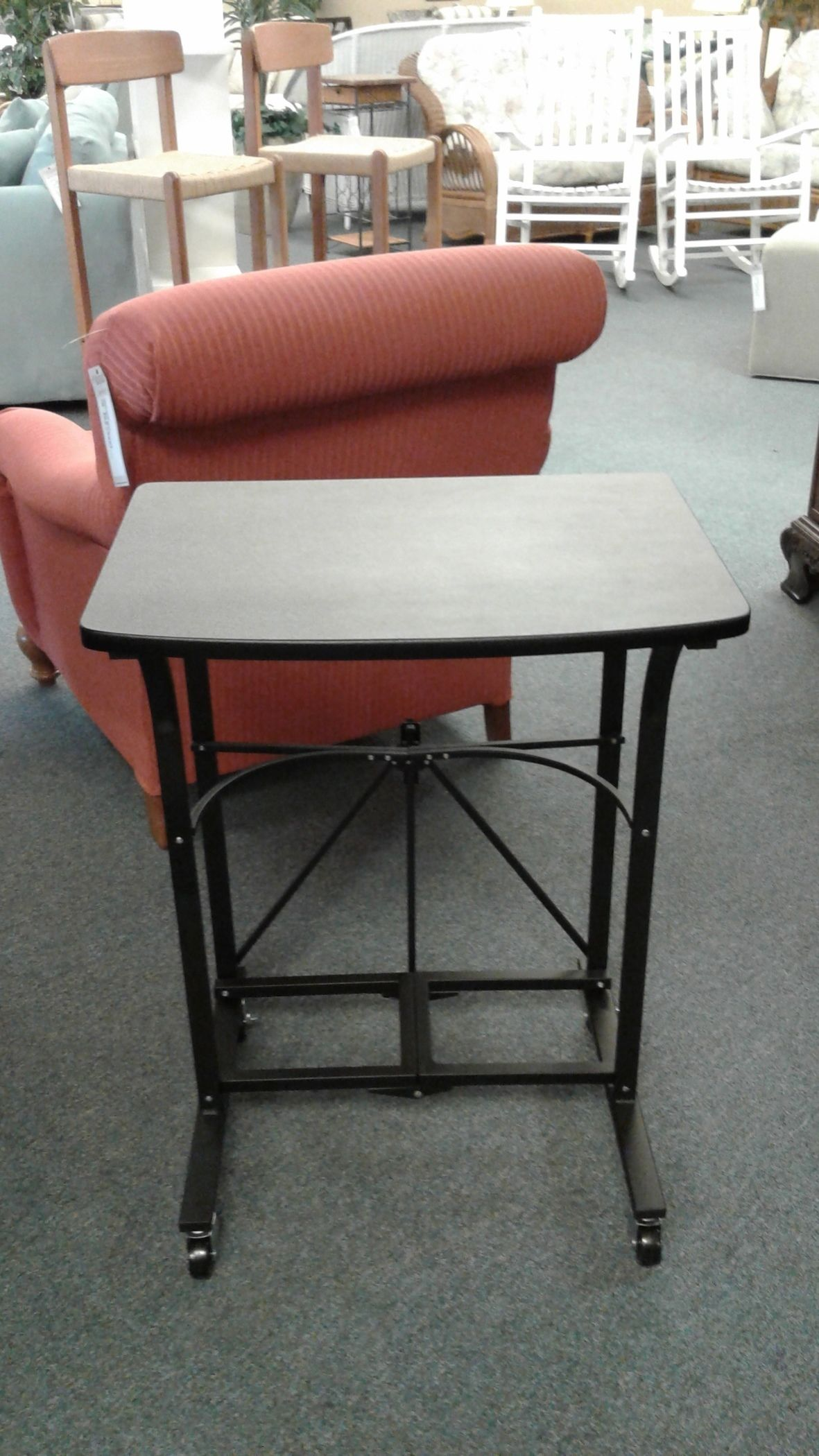 BLACK ORIGAMI FOLDING TABLE | Delmarva Furniture Consignment - photo#14