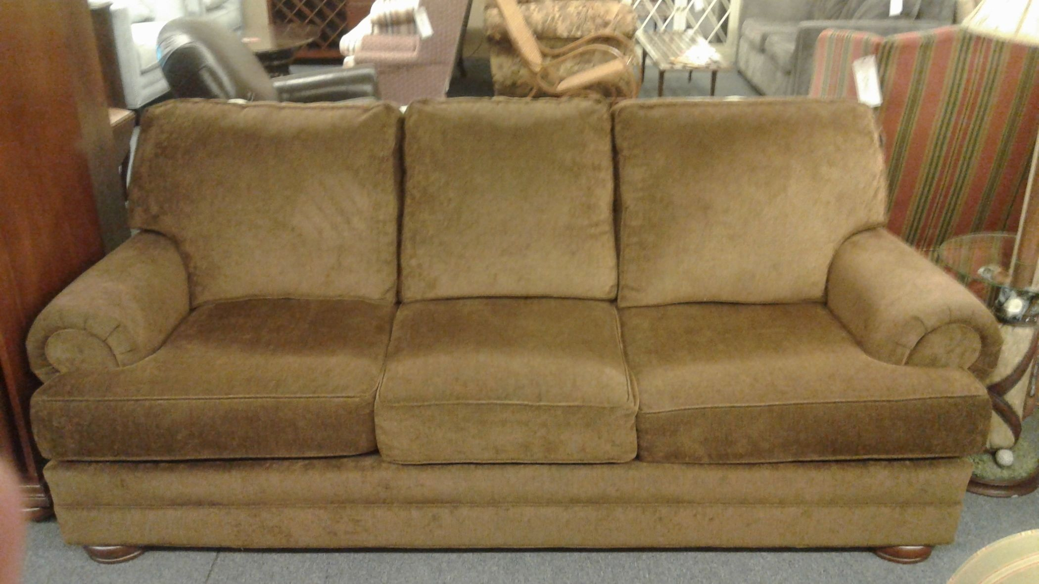 Clayton Marcus Brown Sofa Delmarva Furniture Consignment