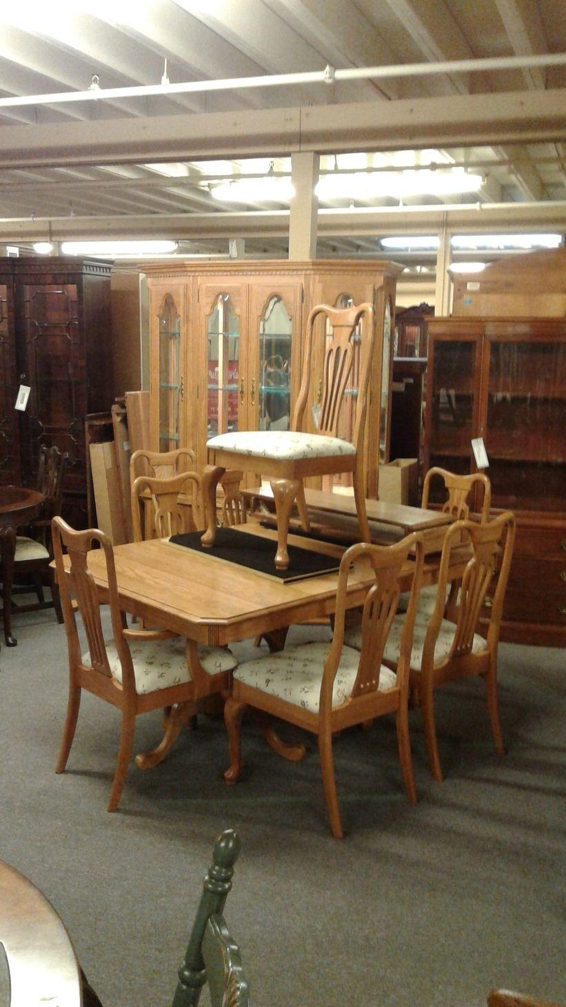 keller oak dining room set delmarva furniture consignment. Black Bedroom Furniture Sets. Home Design Ideas