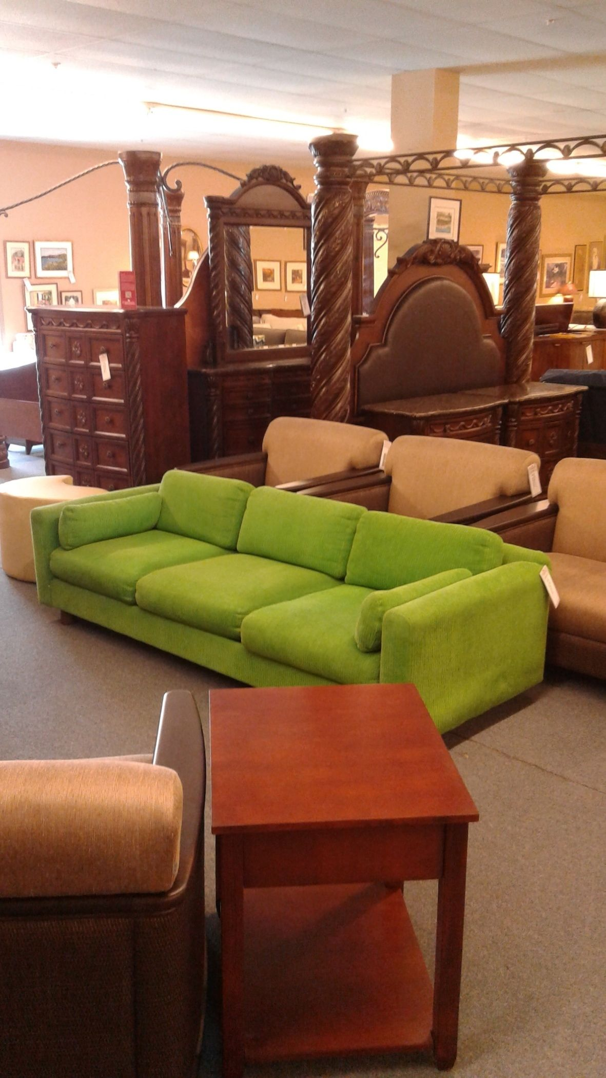 Kelly Green Corduroy Sofa Delmarva Furniture Consignment