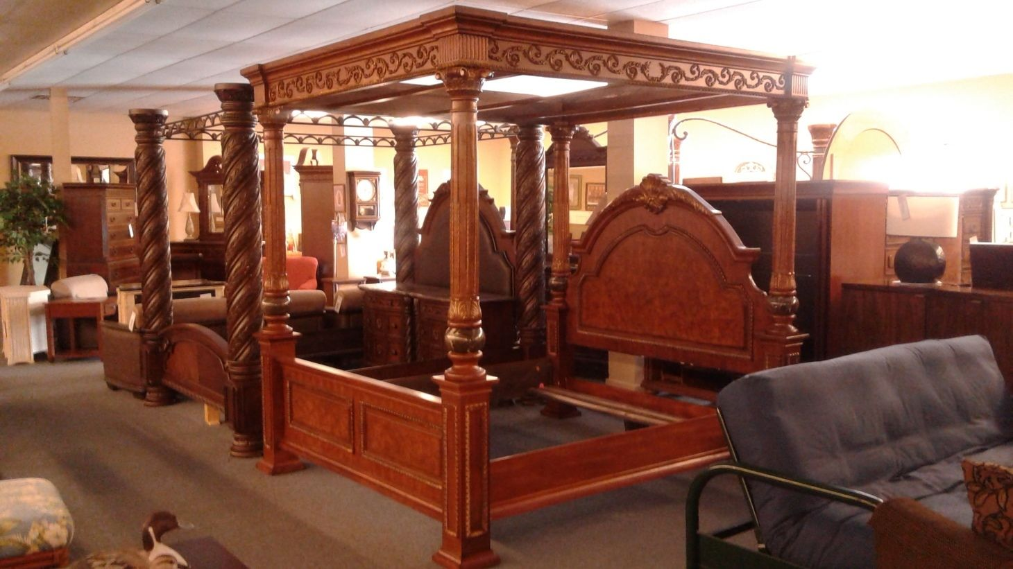 Old World King Size Canopy Bed Delmarva Furniture