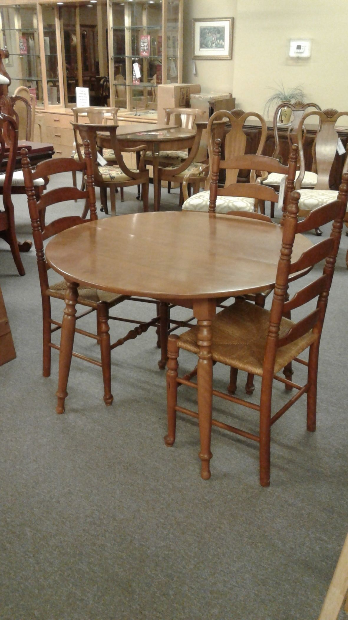 Maple Dining Table W 3 Chairs Delmarva Furniture Consignment