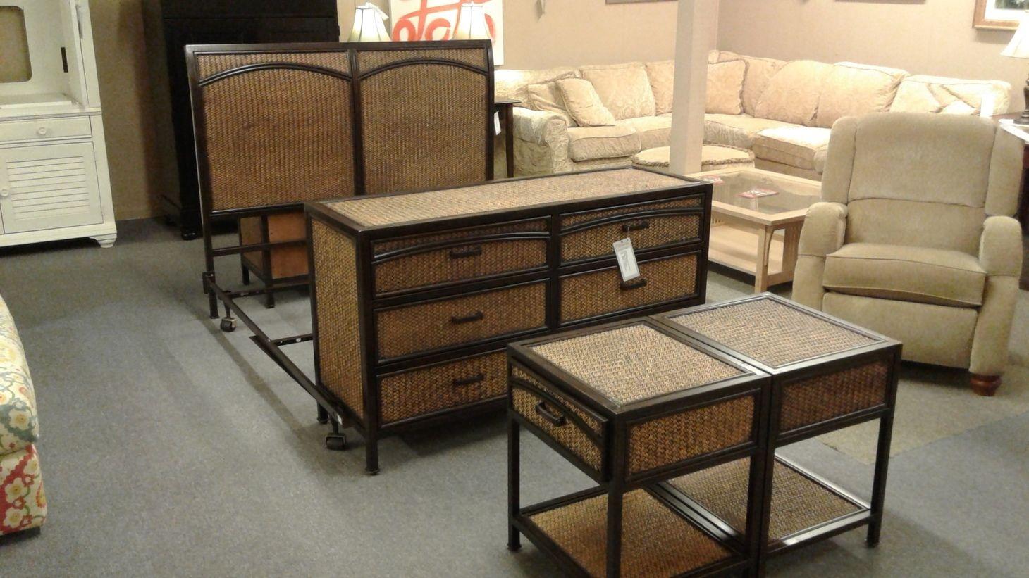 Woven Bamboo Metal Bedroom Set Delmarva Furniture Consignment
