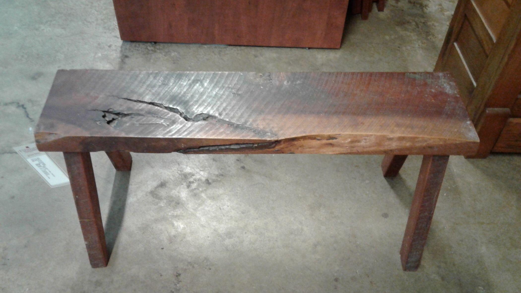 Primitive Bench Natural Wood Delmarva Furniture Consignment