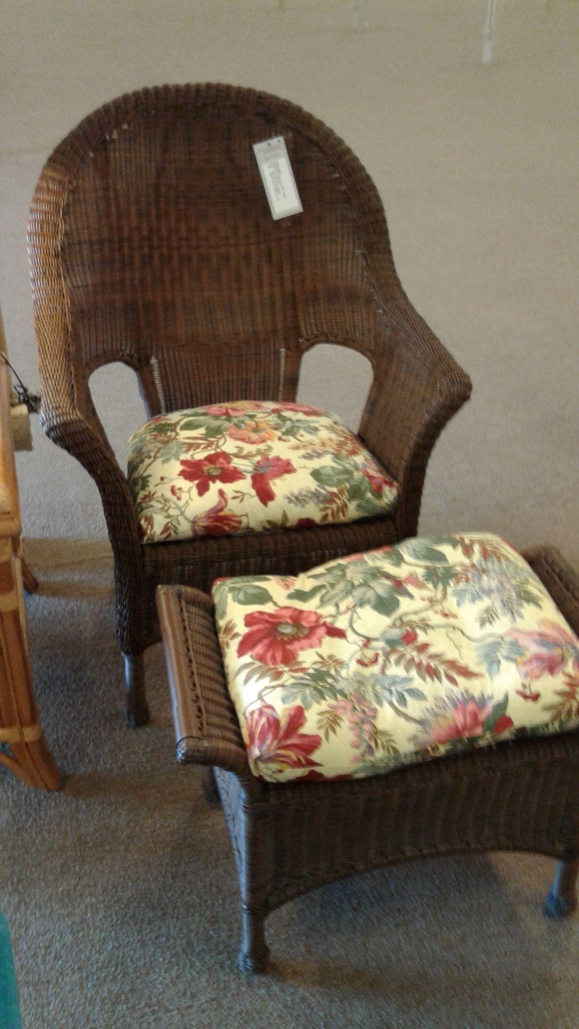 Outdoor Wicker Chair Ottoman Delmarva Furniture Consignment