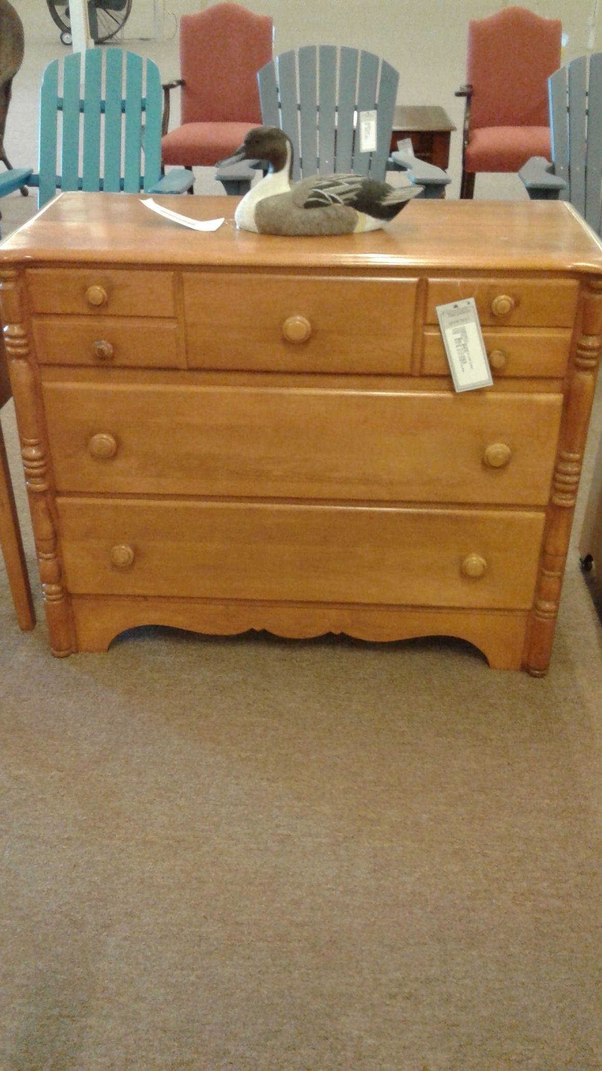 Virginia House Maple Low Chest Delmarva Furniture Consignment
