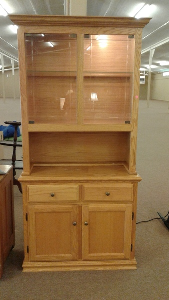 Cochrane Oak China Hutch Delmarva Furniture Consignment
