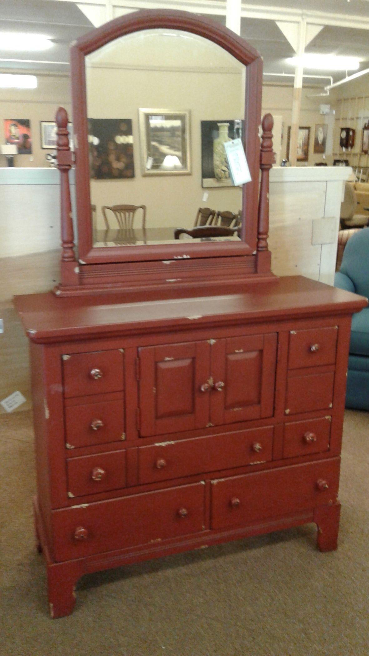 Broyhill Red Dresser Mirror Delmarva Furniture Consignment