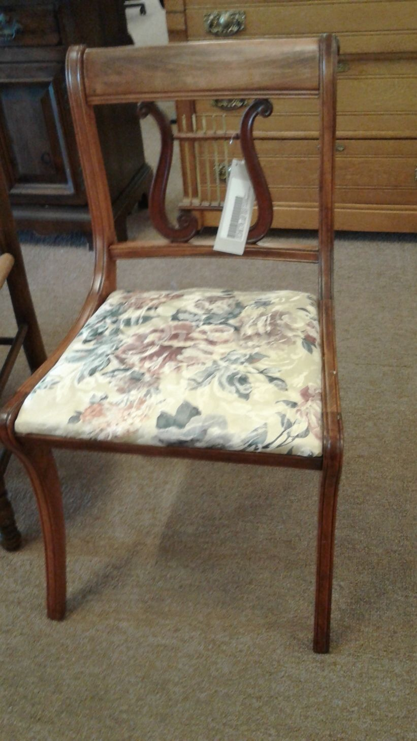 Vintage Lyre Harp Back Chair Delmarva Furniture Consignment
