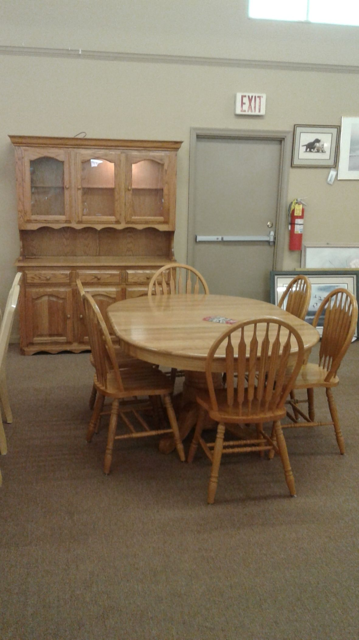 Amish oak table chairs china delmarva furniture