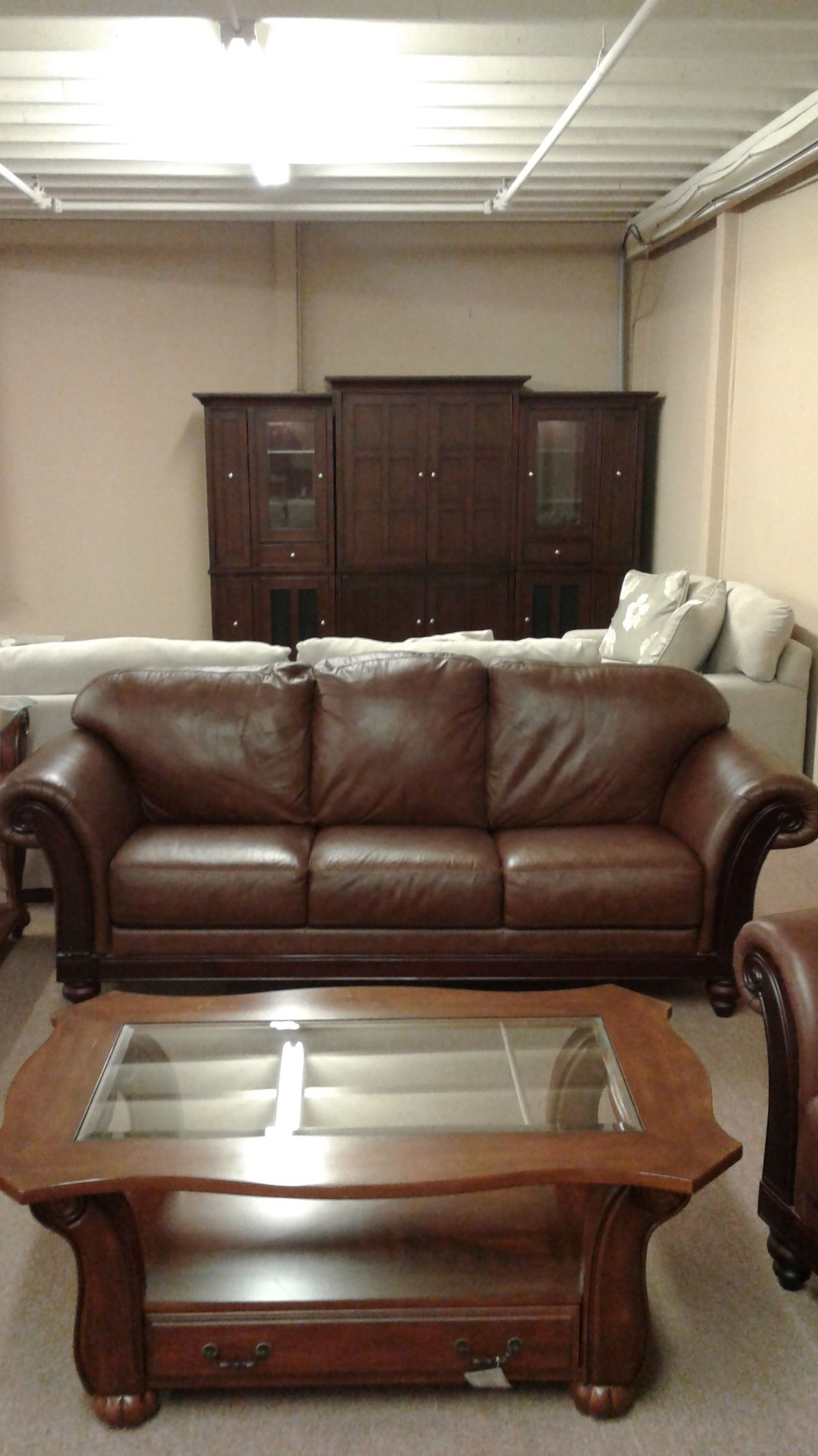 Camel Back Brown Leather Sofa Delmarva Furniture Consignment