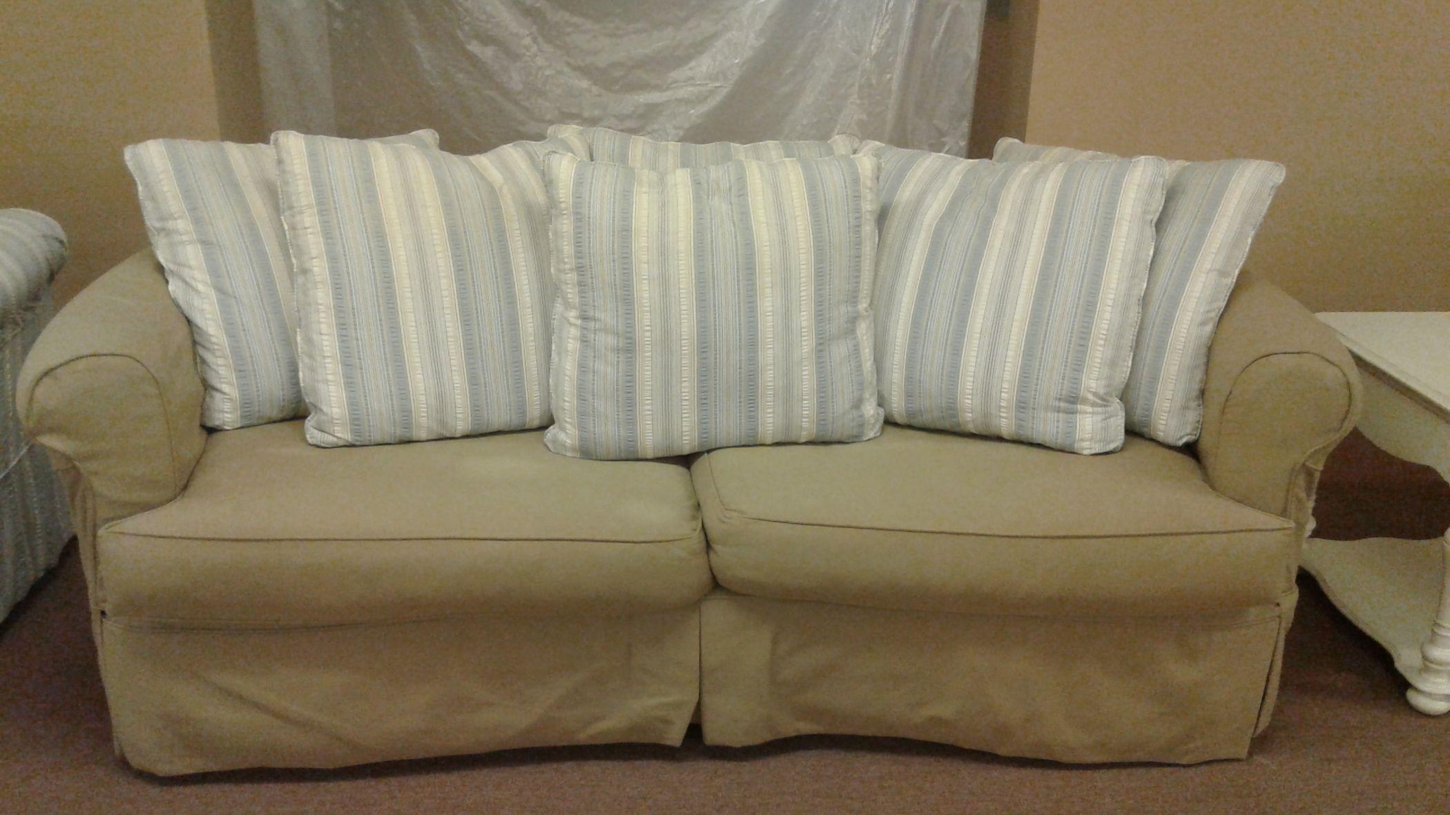 Four Seasons Slip Cover Sofa Delmarva Furniture Consignment