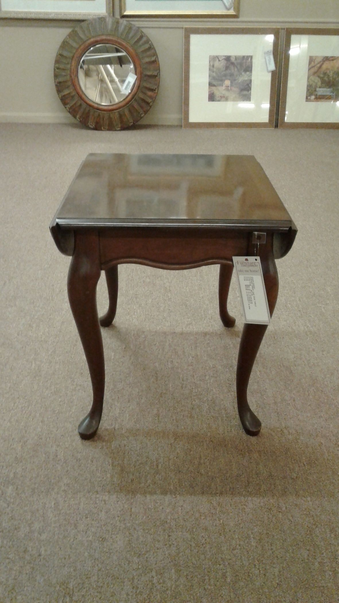 Cherry Drop Leaf Side Table Delmarva Furniture Consignment