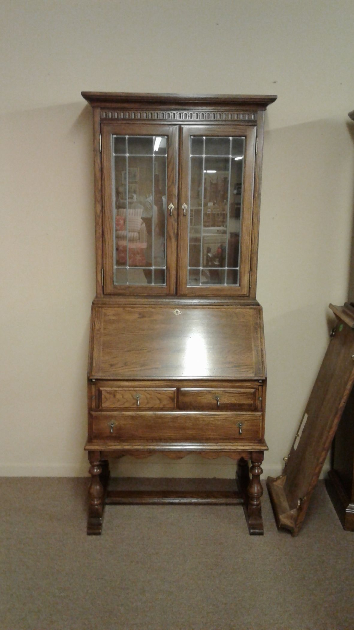 Oak Secretary With Key By Ethan Allen Delmarva Furniture