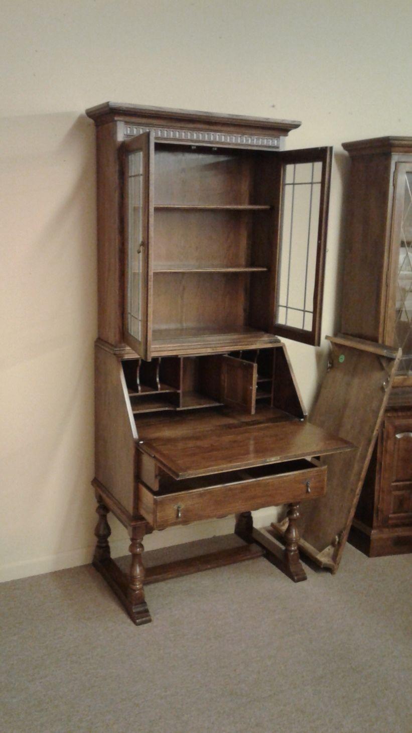 Oak Secretary With Key By Ethan Allen Delmarva Furniture