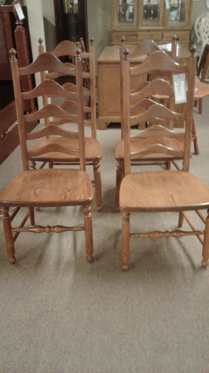 S Bent Amp Bros Ladderback Chairs Delmarva Furniture Consignment