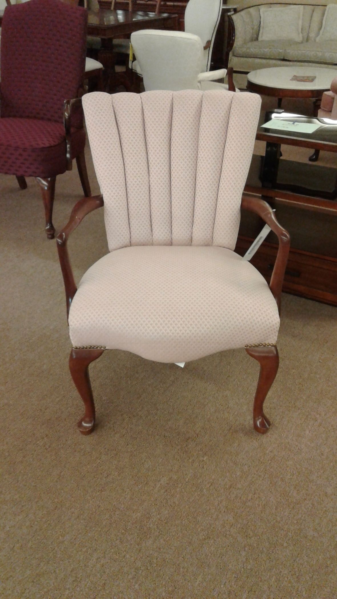 Pink Bedroom Chair Delmarva Furniture Consignment