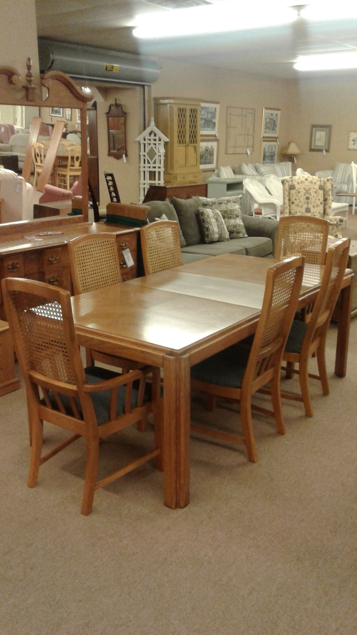 Delmarva furniture consignment pulaski dark cherry hall