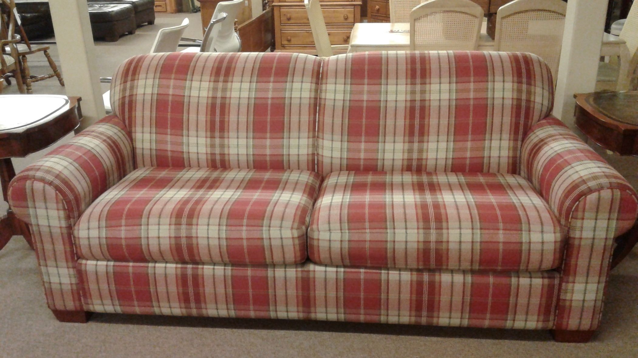 Plaid Sofa Cedaredge Plaid Sofa Pine Ridge Green Fabric Dcg Stores
