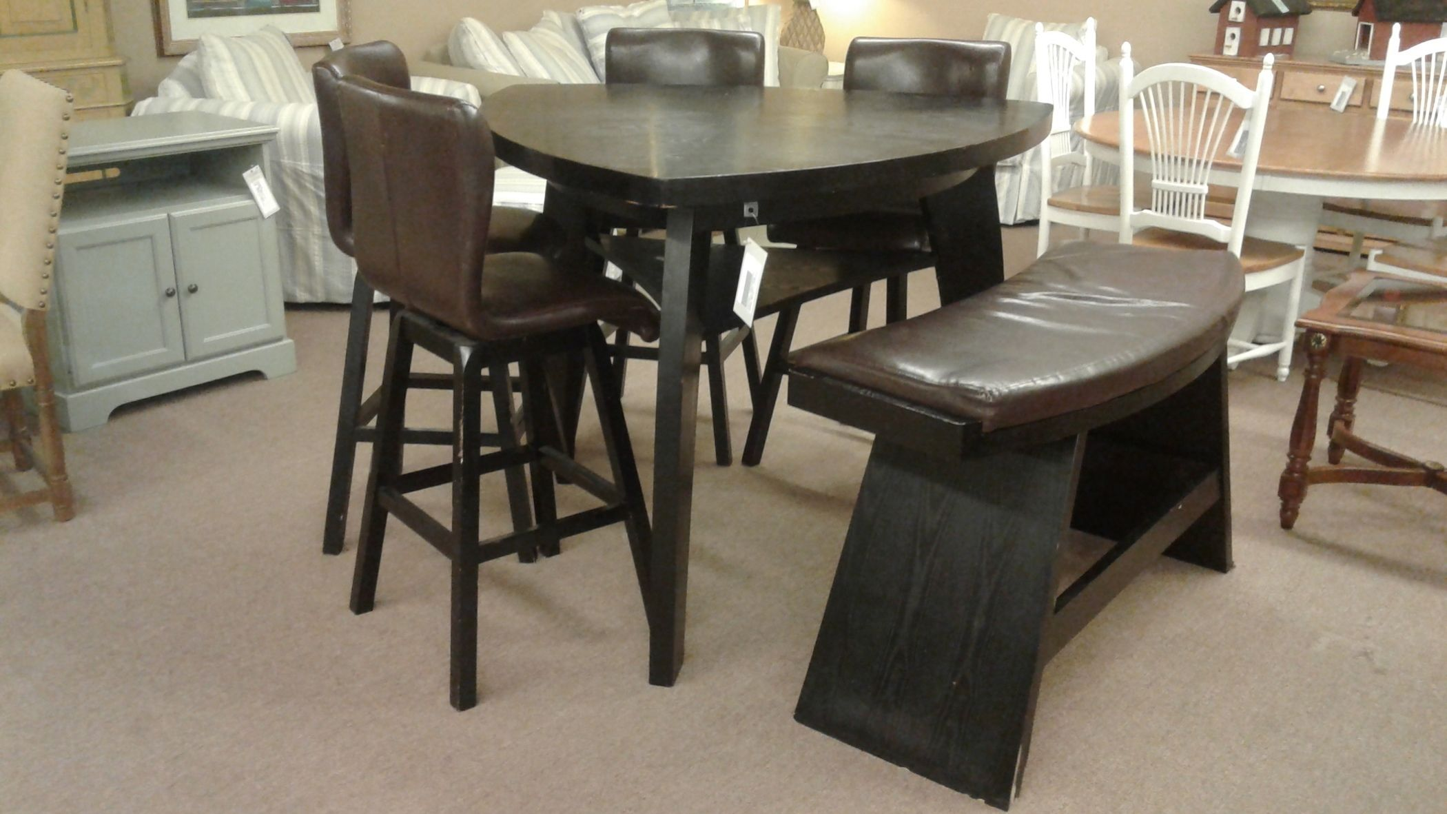 noah choc bar height dining delmarva furniture consignment