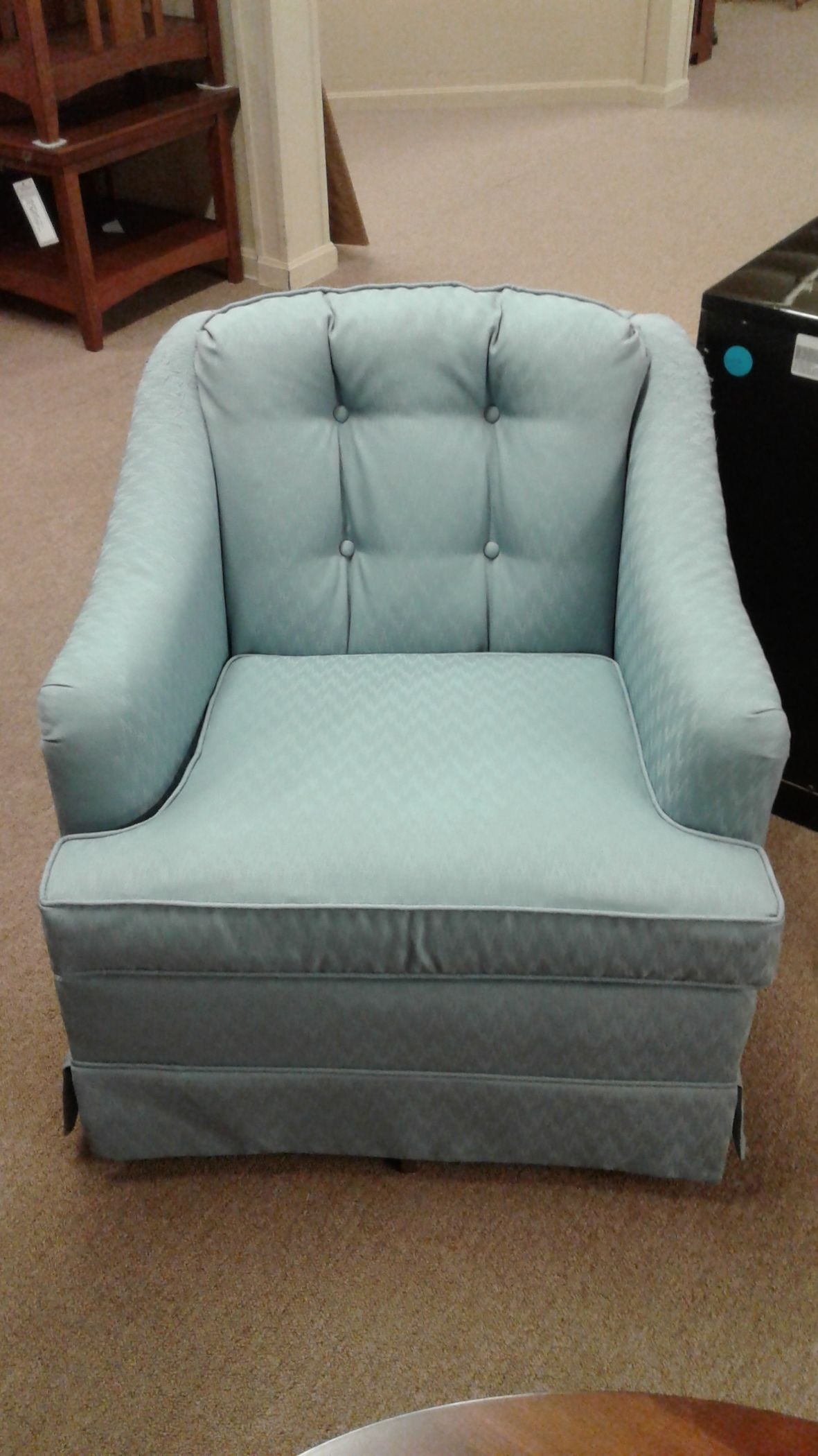 Rowe Blue Swivel Rocker Delmarva Furniture Consignment