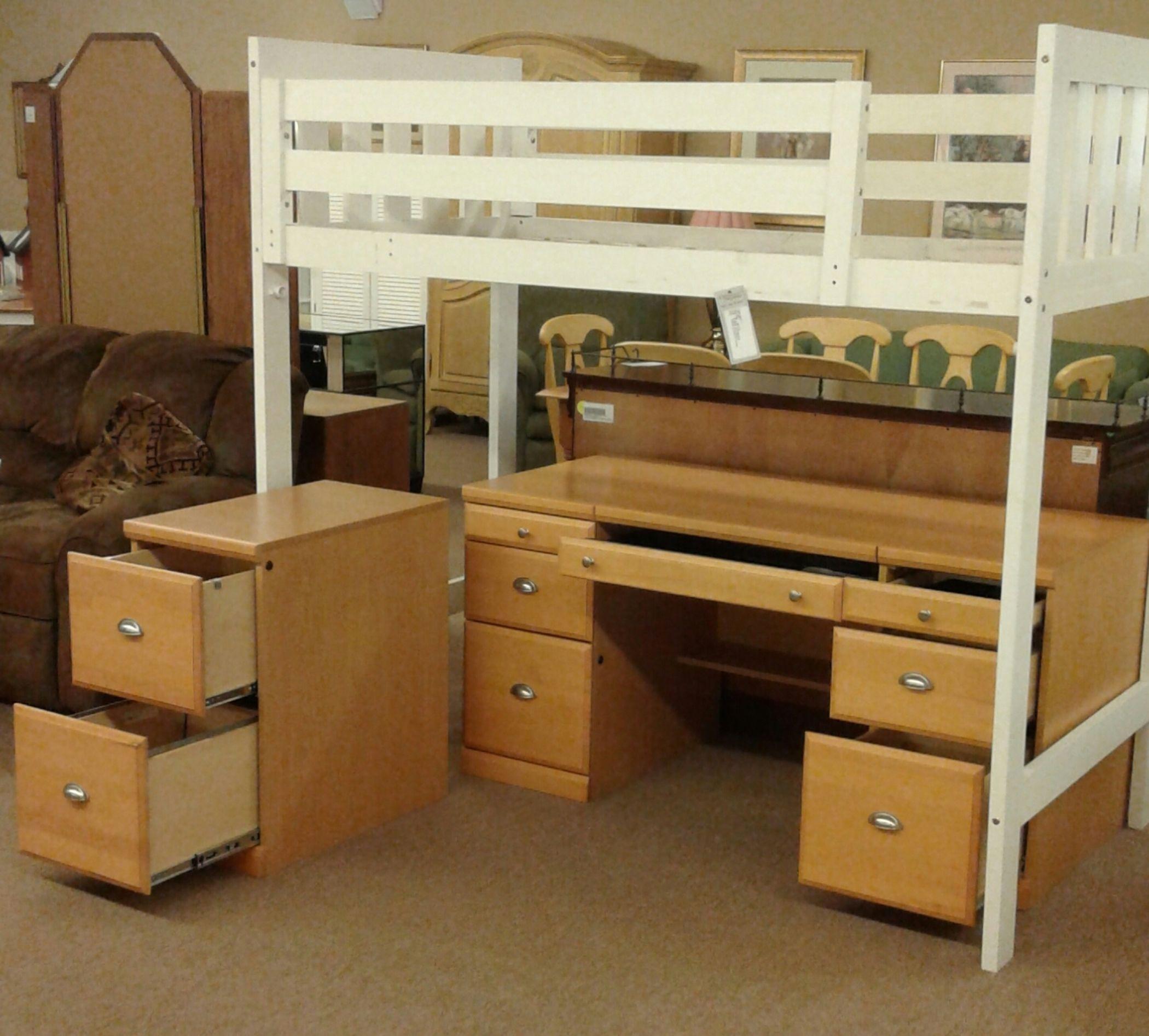 Maple Desk W Filing Cabinet Delmarva Furniture Consignment