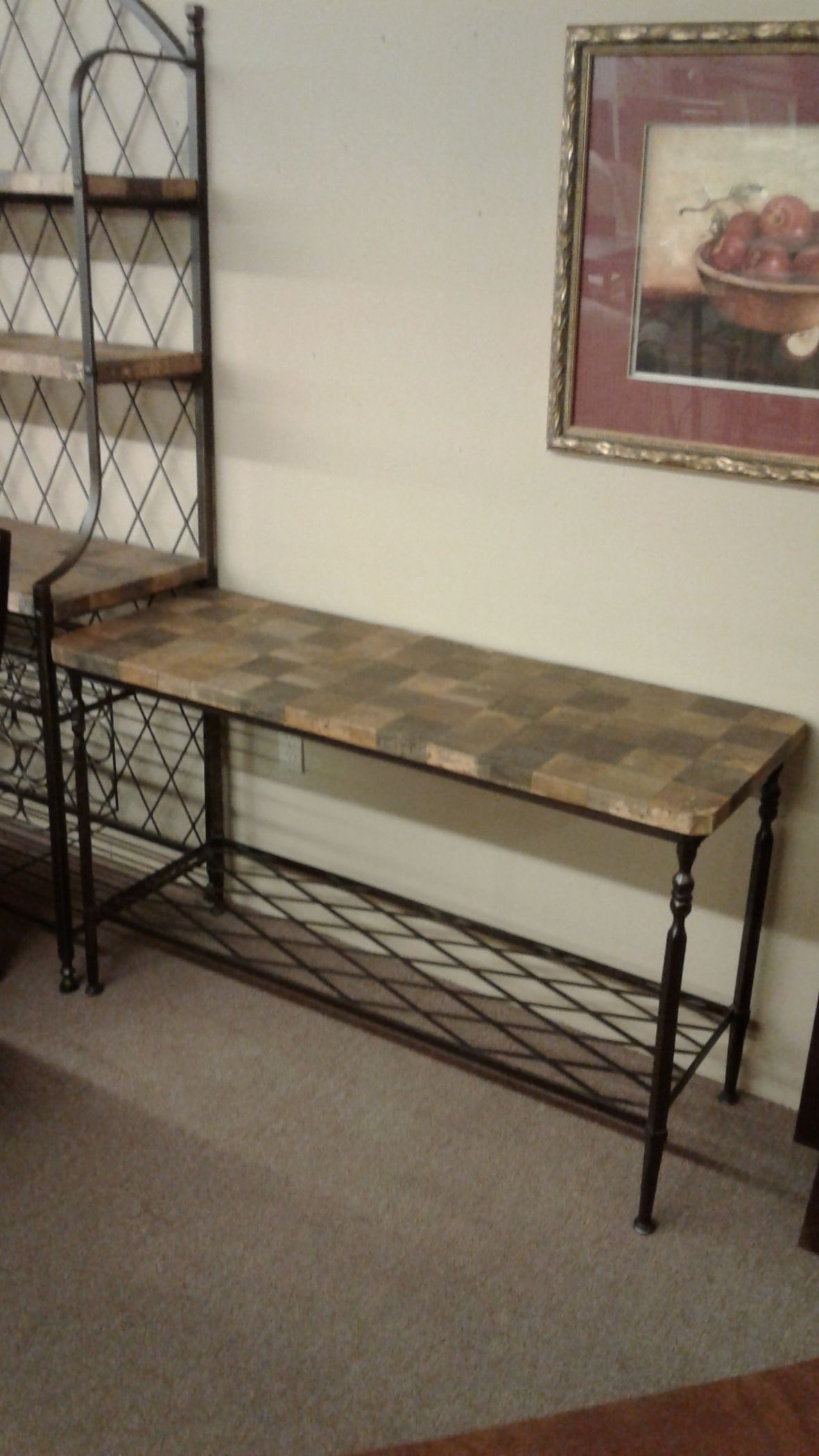 Bronze Metal Tiled Sofa Table Delmarva Furniture Consignment