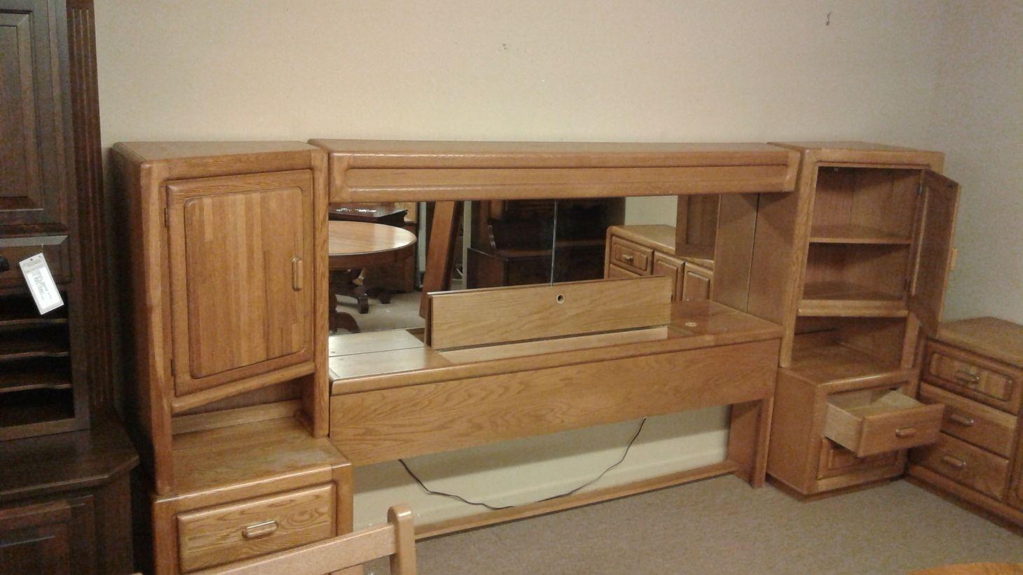 Oak King Bookcase Headboard Delmarva Furniture Consignment