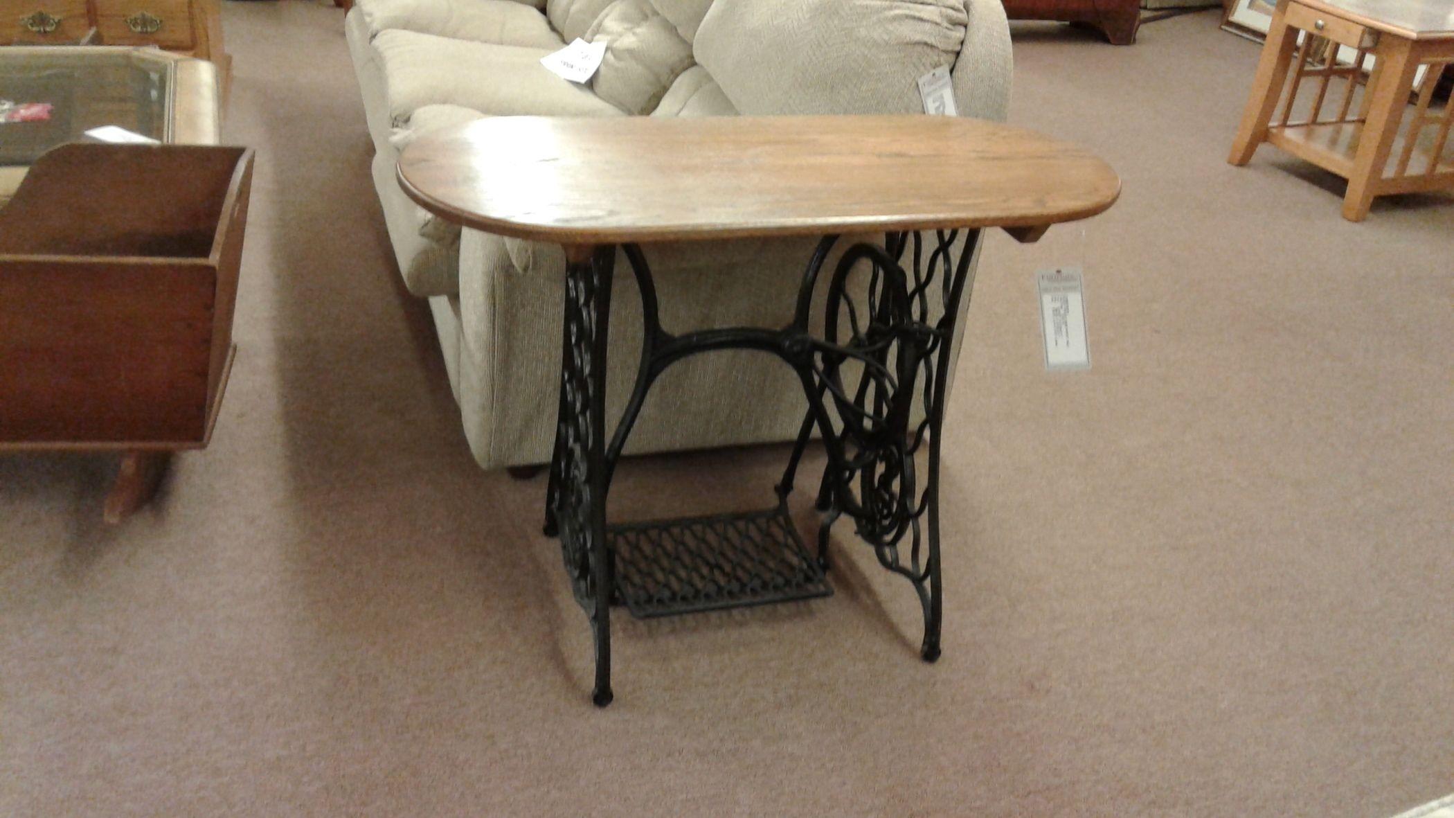 Singer Treadle Base Wood Table Delmarva Furniture