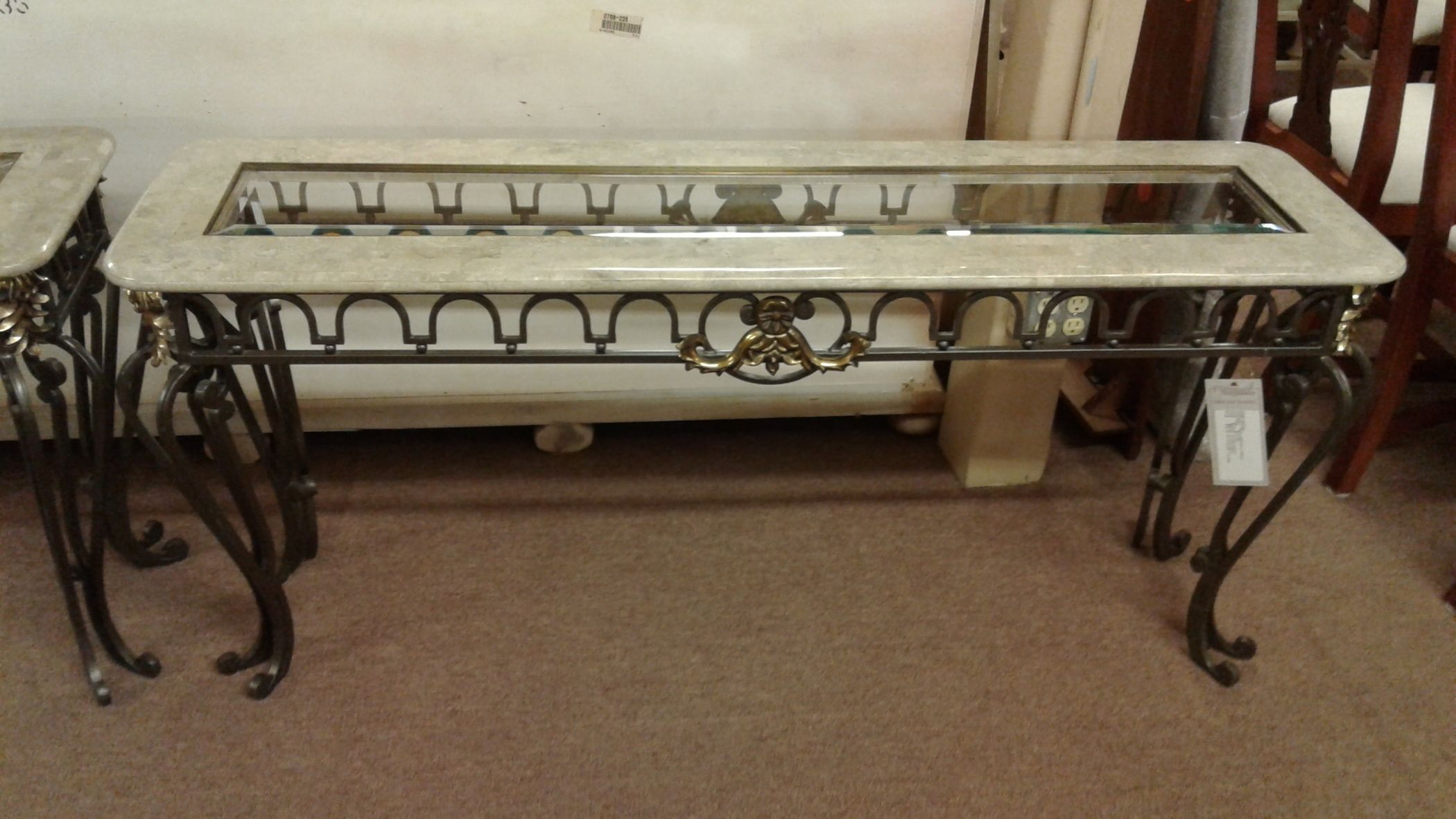 Wrought Iron Console Table Delmarva Furniture Consignment