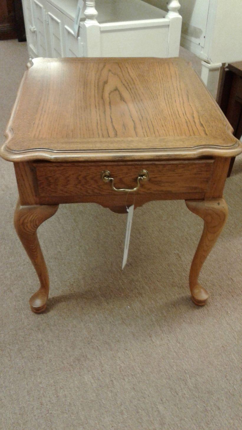 Thomasville Oak End Table Delmarva Furniture Consignment