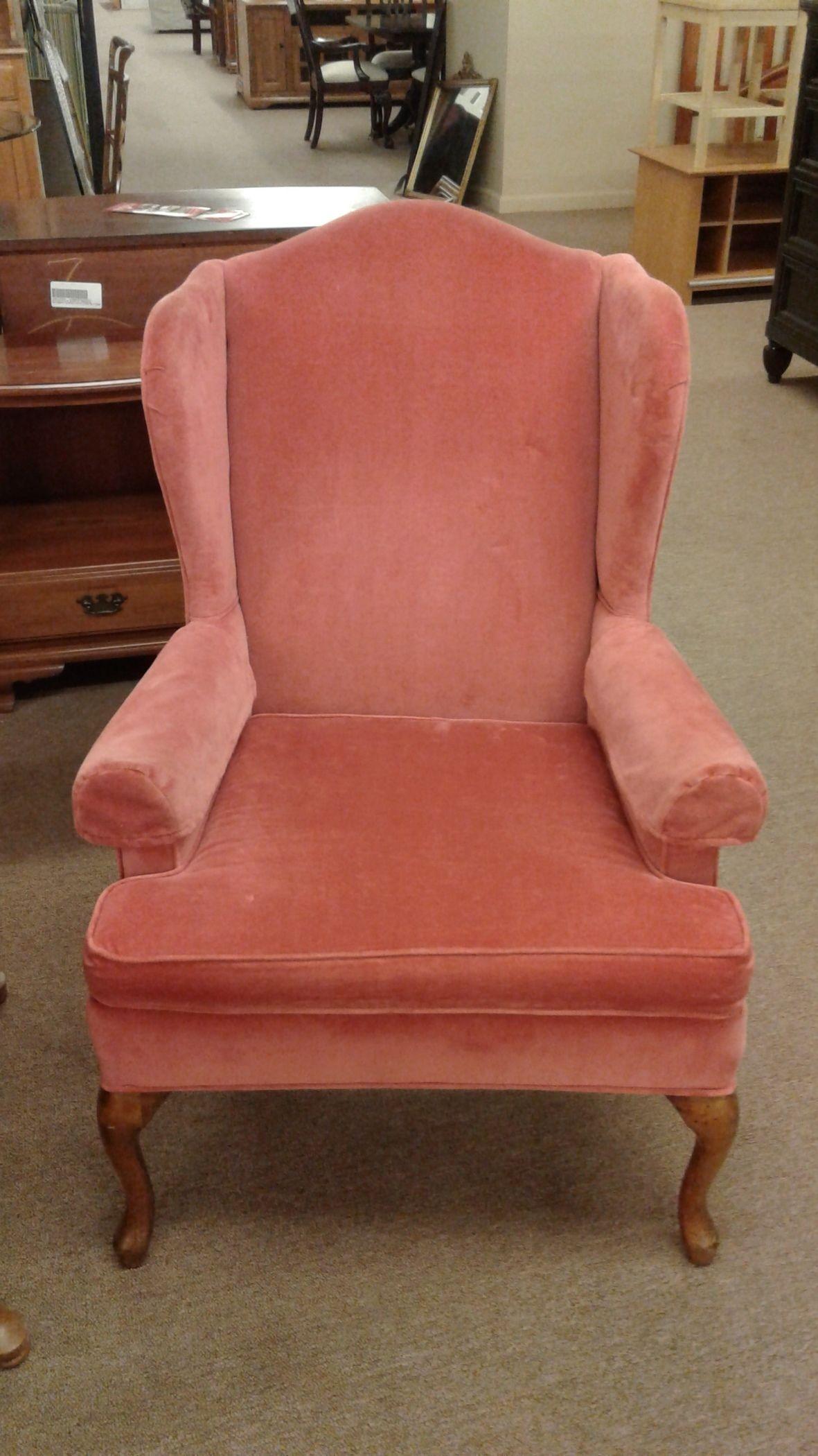 Salmon Wingback Chair Delmarva Furniture Consignment