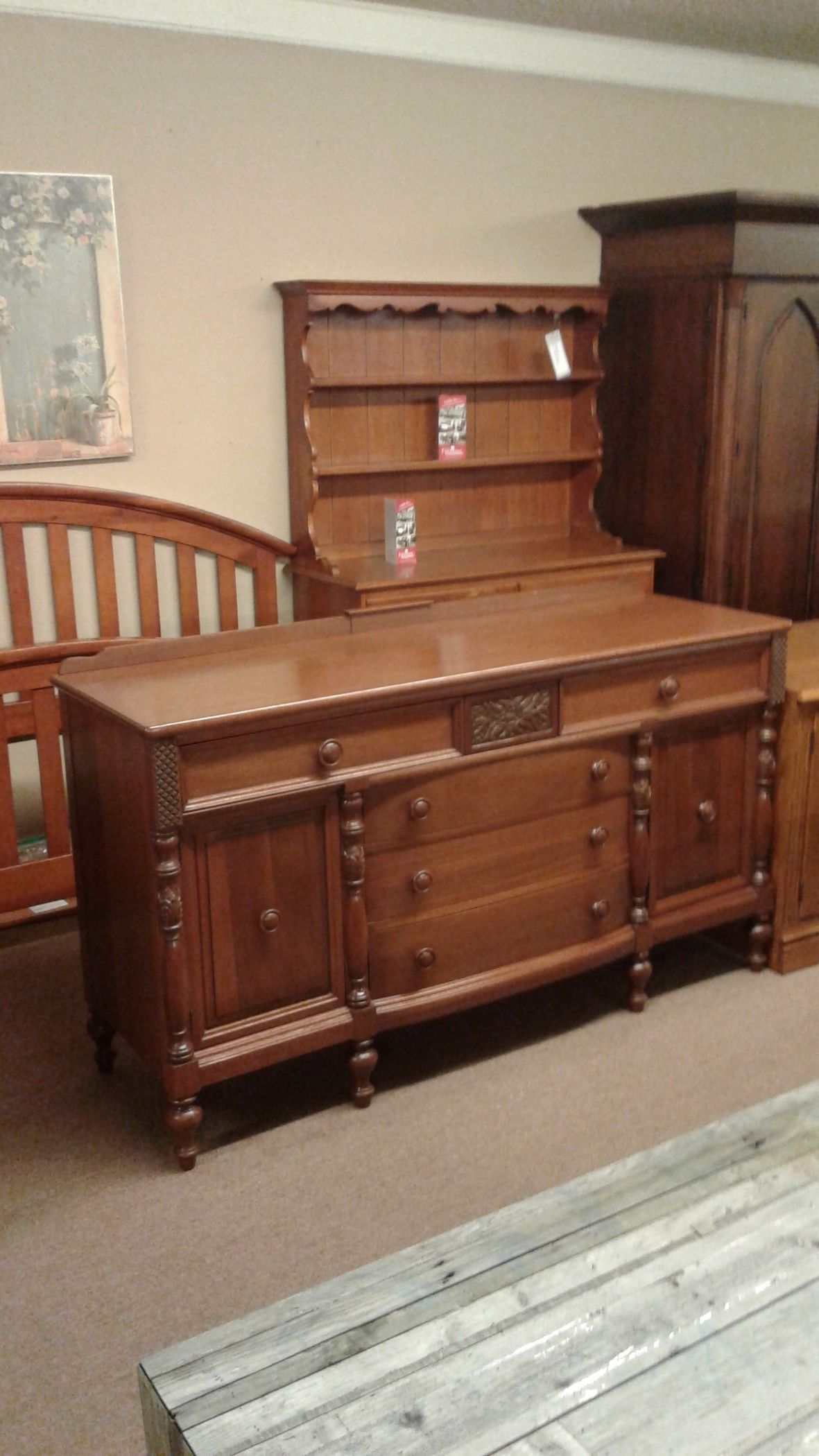 Finch Fine Furn Mahogany Serv Delmarva Furniture Consignment