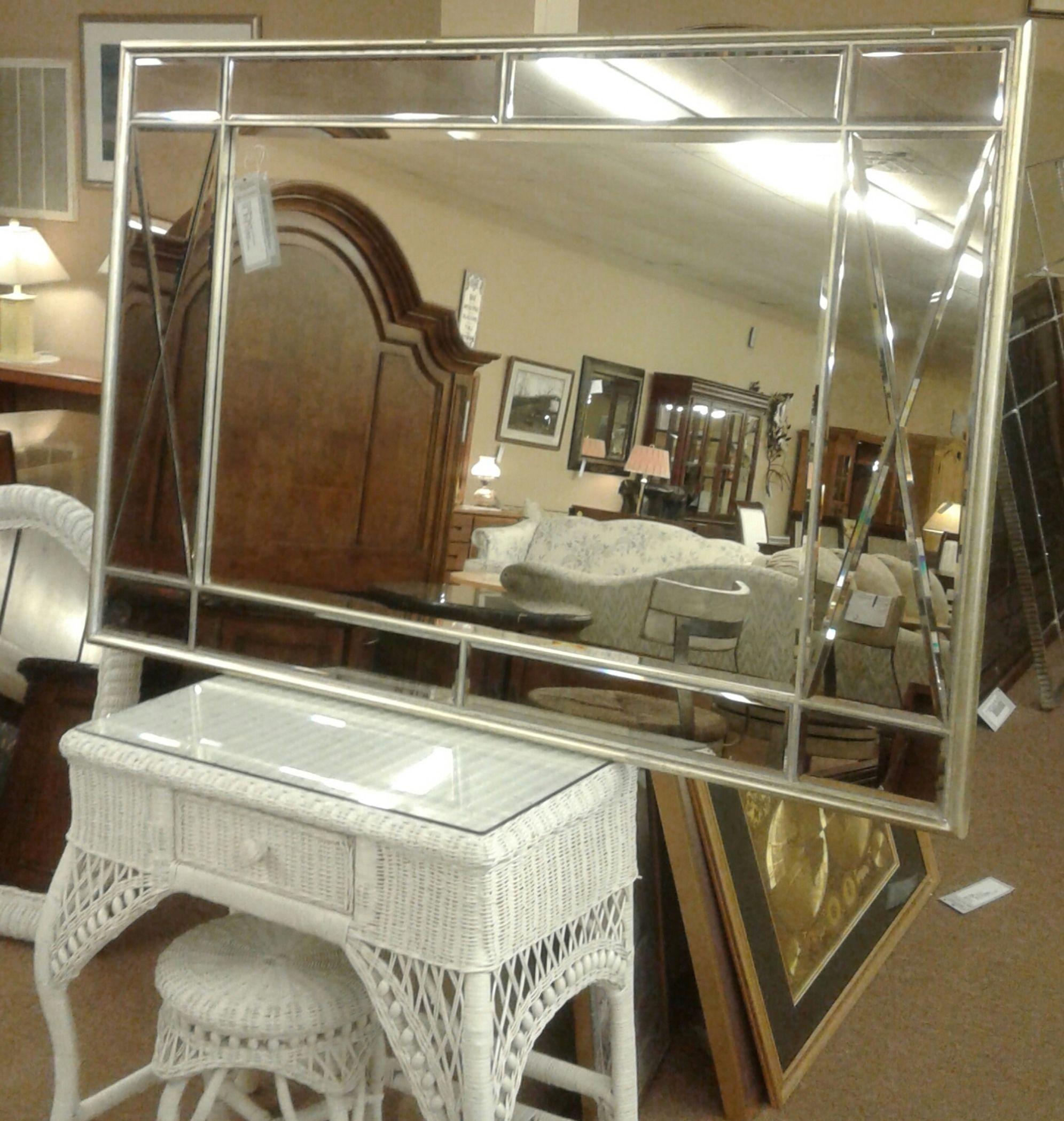 Silver Framed Paneled Mirror Delmarva Furniture Consignment